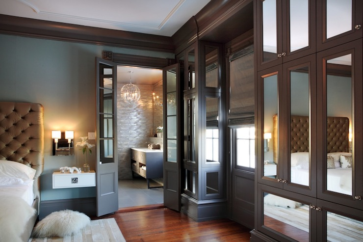 Mirrored Cabinets Contemporary Bedroom Rethink