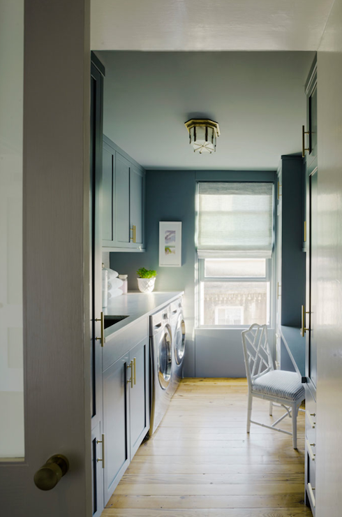 Blue Laundry Room Laundry Room Rethink Design Studio