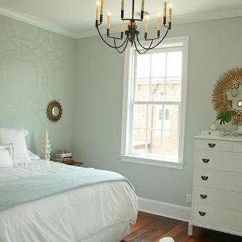 Geometric Painted Wall Contemporary Bedroom Rethink