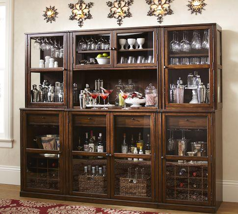 Saxton Entertaining Bar Suite   Pottery Barn