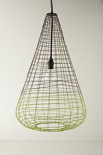 Small woven wire pendant lamp i anthropologie aloadofball Image collections