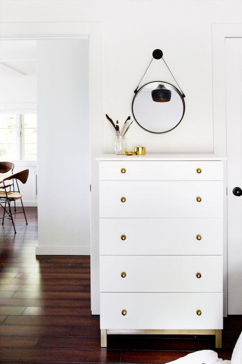 White Dresser Gold Hardware Ikea Hacks