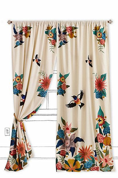 Soaring Starlings Curtain I Anthropologie Com
