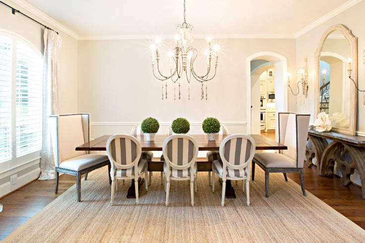 Delicieux Striped Dining Chairs