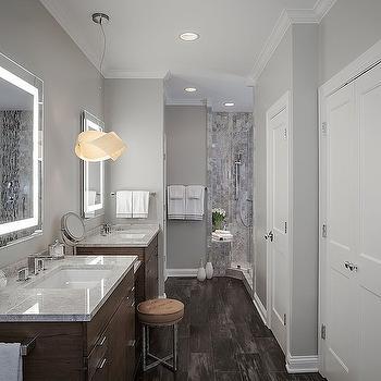 Gray Bathroom, Contemporary, bathroom, Beckwith Interiors