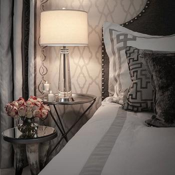 Greek Key Bedding, Contemporary, bedroom, Beckwith Interiors