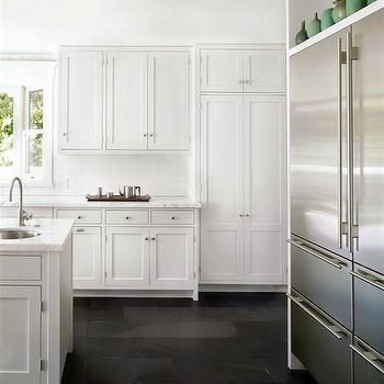 Sub Zero Refrigerator, Contemporary, kitchen, Farrow & Ball Blackened, DCM Designs