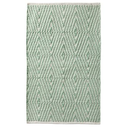 Superior Nate Berkus Aztec Diamond Mint Bath Rug