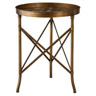 Threshold Stamped Metal Accent Table   Gold I Target