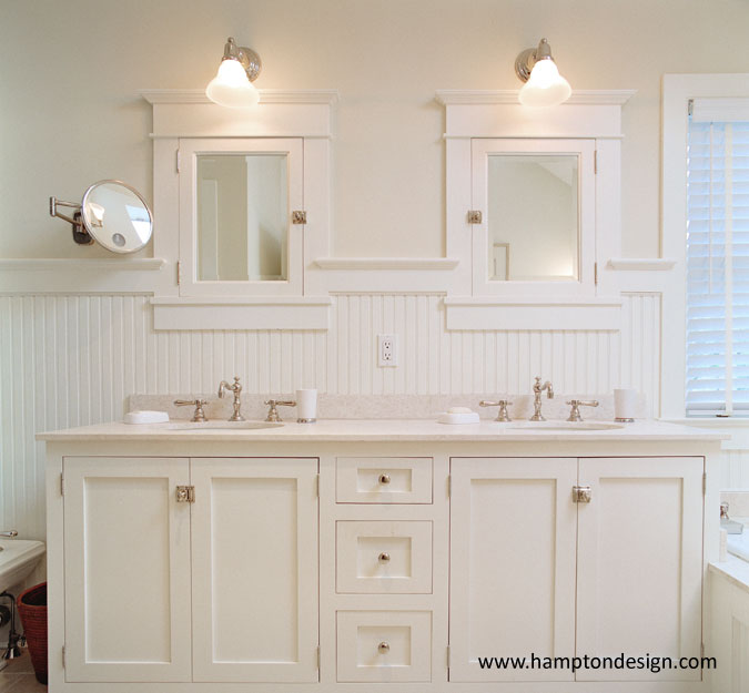 Craftsman Style Bathroom Wall Cabinets : Mission style wainscoting design ideas