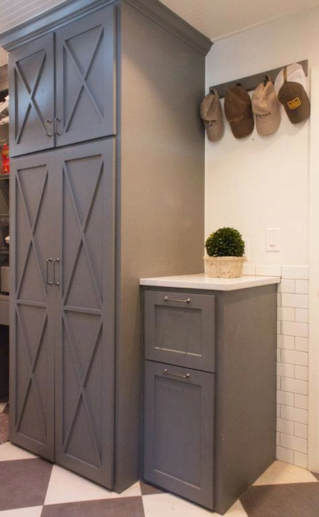 Gray Cabinets Traditional Laundry Room Lauren