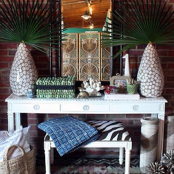 Zebra Bench, Eclectic, entrance/foyer, Furbish Studio