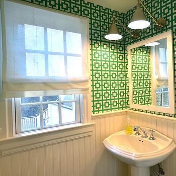 Beadboard Powder Room, Contemporary, bathroom, D2 Interieurs