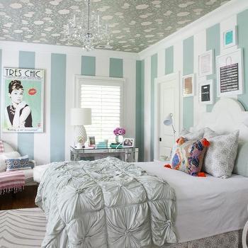 Turquoise Girl's Room, Contemporary, girl's room, Furbish Studio