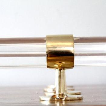 Custom lucite polished brass drapery curtain rods by luxholdups i etsy