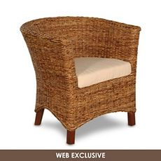 Superior Kirklands Serena Wicker Tub Chair View Full Size