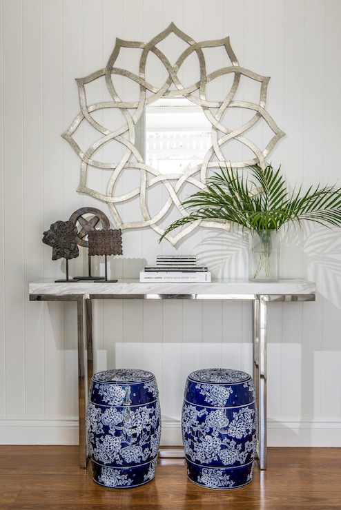 Chrome And Marble Console Table Design Ideas