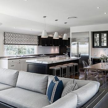 Black and White Kitchen, Contemporary, kitchen, Highgate House