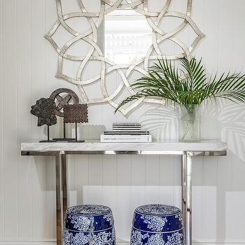 Marble Top Console Table, Cottage, entrance/foyer, Highgate House