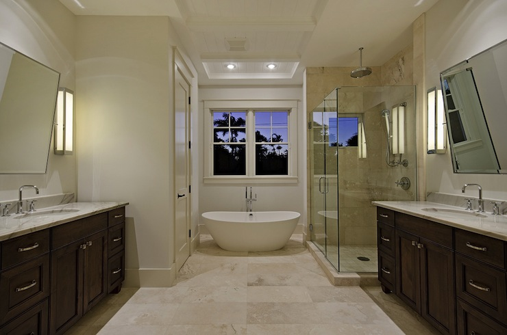 View Full Size. Stunning Bathroom Design With Travertine ...