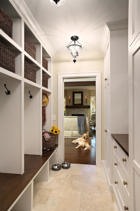Mudroom Bench With Storage Eclectic Laundry Room