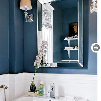 Navy Blue Bathroom. Blue Wall Color Design Ideas