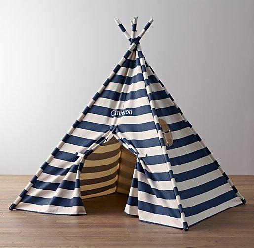 White Roll Up Sides Canvas Tent Bed