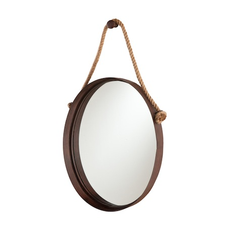 Restoration hardware iron and rope mirror look 4 less for Decorative mirrors for less