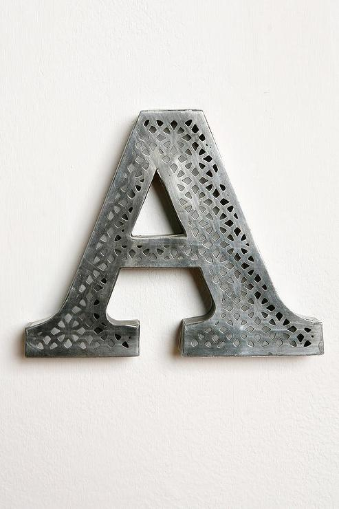 Metal Alphabet Letters For Wall Inspiration Etched Letter I Urban Outfitters Review