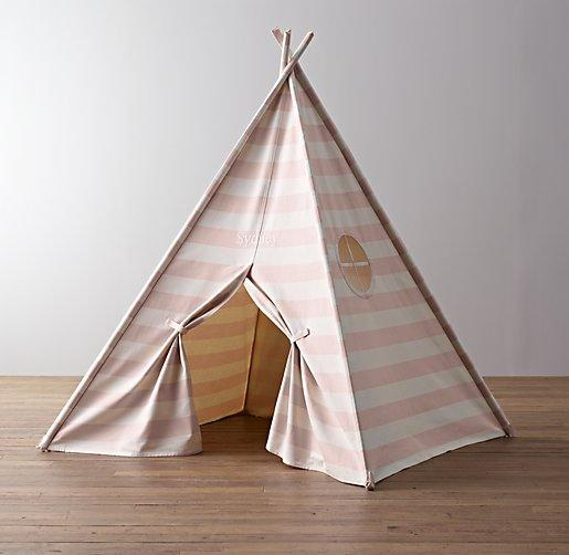 Awning Stripe Canvas Play Tent Restoration Hardware Baby