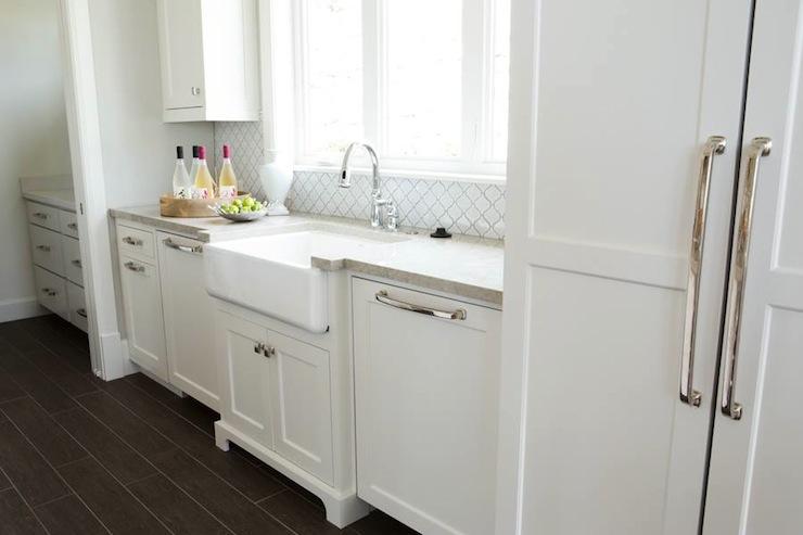 Arabesque Tile Backsplash Transitional Kitchen