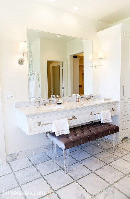 Lucite Bench Contemporary Bathroom Utah Valley Parade Of Homes