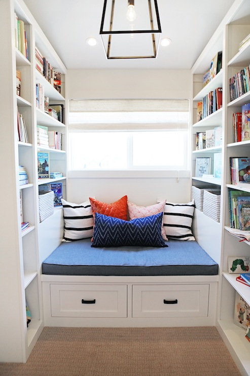 Reading nook with built in bookcases design ideas Built in reading nook