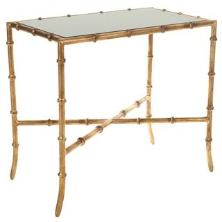 Genial Mirrored Glass Gold Accent Table | Overstock.com