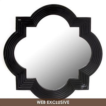 Black geo wall mirror 20x20 kirkland 39 s for Black wall mirror