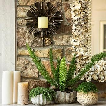 Shell Mirror, Transitional, porch, At Home in Arkansas