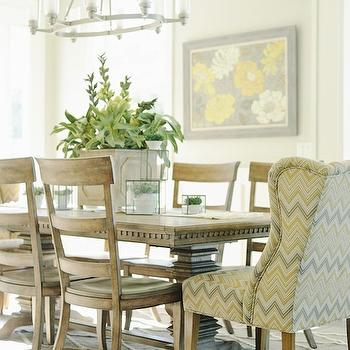 Yellow and Gray Chair, Transitional, dining room, Davies Development