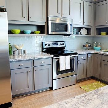 Gray Kitchen Cabinets, Contemporary, kitchen, Utah Valley Parade of Homes