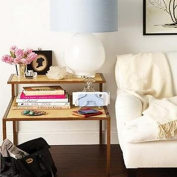 View Full Size Chic Living Room With Ivory Sofa Next