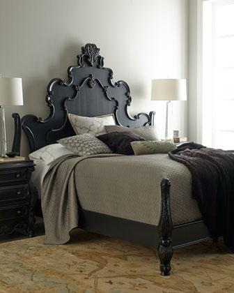ornate bedroom furniture. nicolette black bedroom furniture i horchow ornate