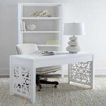 Bungalow 5 bell white wood desk for Bungalow 5 desk