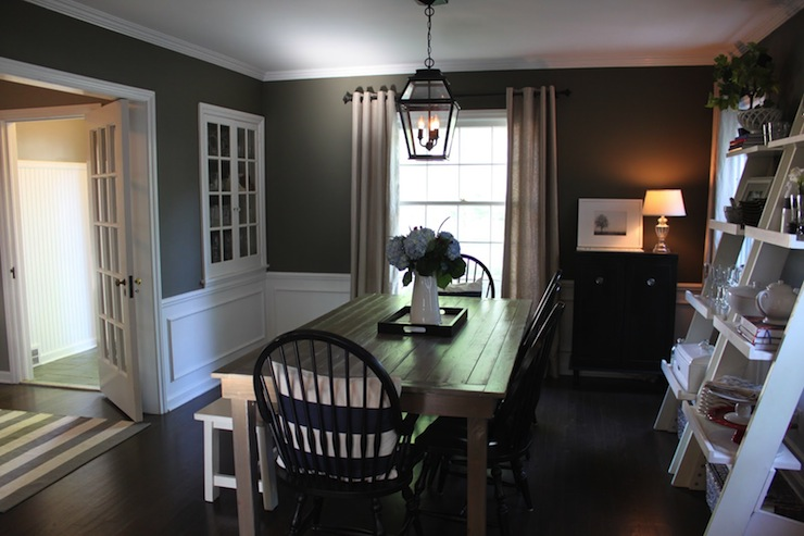 of homes chic gray dining room with dark gray walls with white