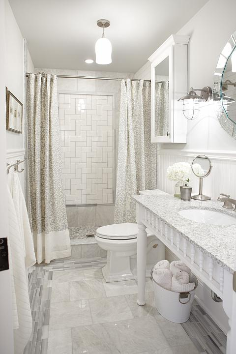Iceberg Marble Transitional Bathroom Sarah