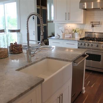 Alpine White Granite, Transitional, kitchen, The Fat Hydrangea