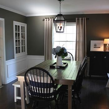 Dark gray dining room design ideas for Dark grey dining room