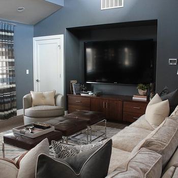 TV Alcove, Contemporary, living room, Alice Lane Home