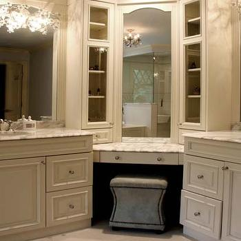 Bathroom Cabinets Corner corner bathroom vanity design ideas