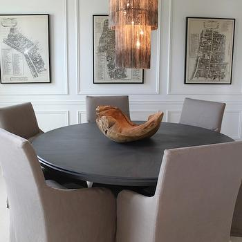 Gray Dining Chairs, Contemporary, dining room, The Fat Hydrangea