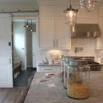Alpine White Granite Countertops, Transitional, kitchen, The Fat Hydrangea