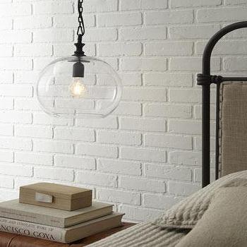 Calhoun glass pendant pottery barn glass ball pendant light i horchow aloadofball Images
